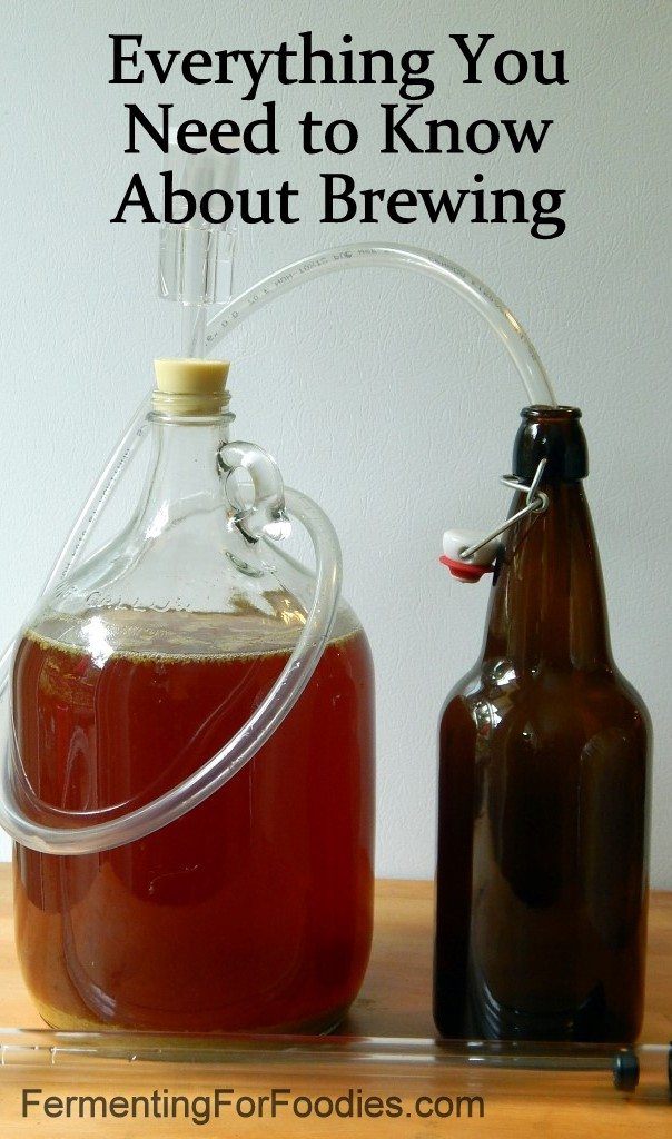 Carboy with hosing and everything you need to know about brewing beer.