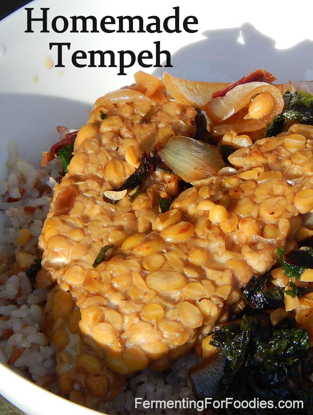 Homemade Tempeh with a stirfry