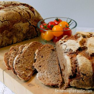 How to make a 100% whole grain sourdough bread with spelt, red fife, barley or rye flour