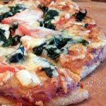 Delicious sourdough pizza crust!