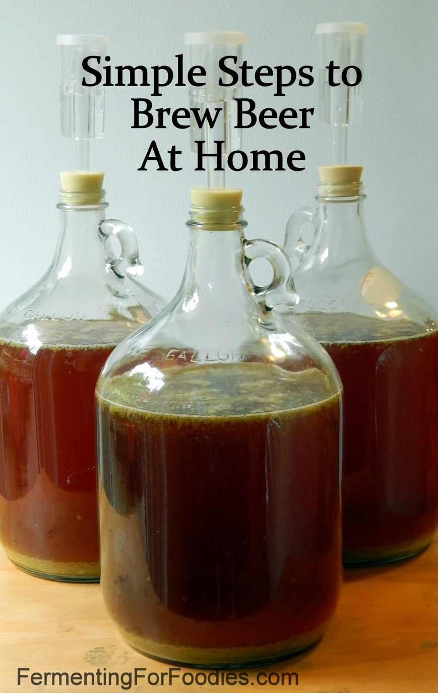 How to brew beer at home: Carboys with hops