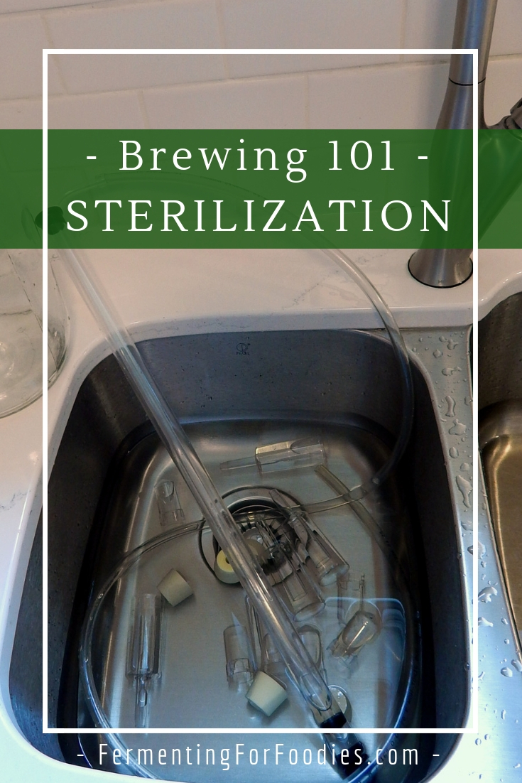 Sterlization and sanitation for homebrewing, wine making and DIY fermentation