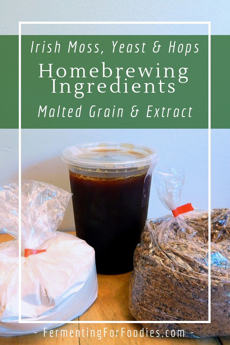 Yeast, hops and irish moss - everything you need to brew at home