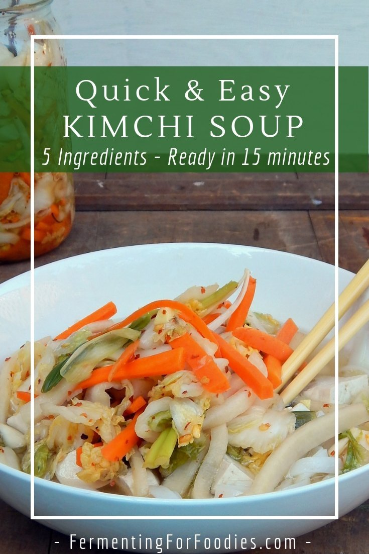 Easy kimchi soup is ready in only 15 minutes