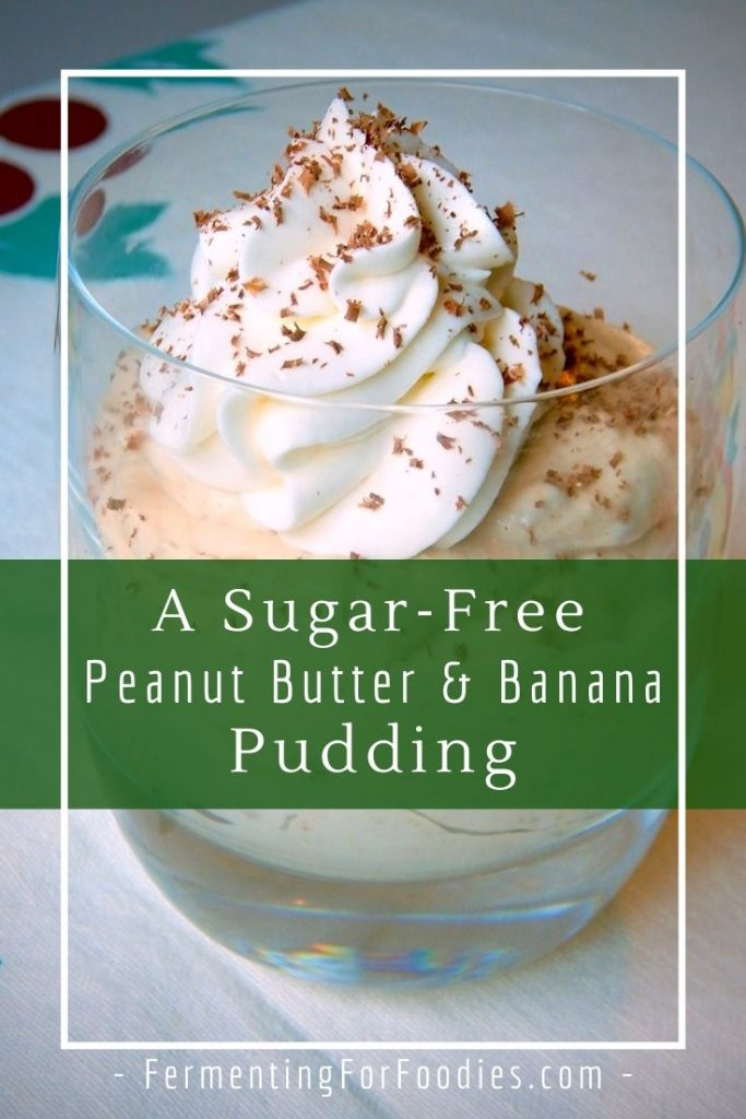 Delicious and probiotic peanut butter and banana pudding