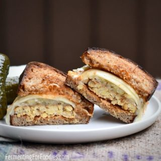 How to make a vegan Reuben Sandwich with tempeh and sauerkraut