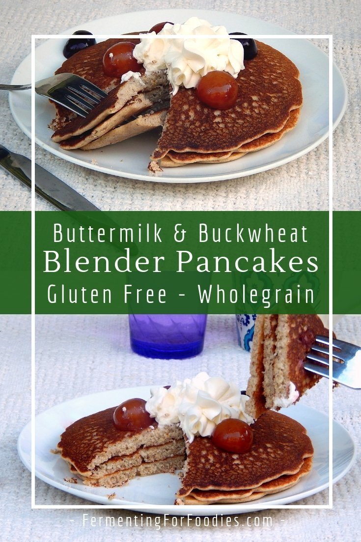 Healthy naturally gluten free buckwheat kasha pancakes
