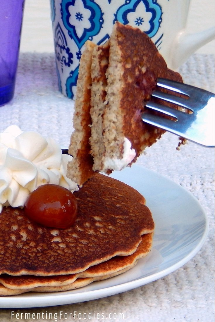 Soaked whole groats buttermilk buckwheat pancakes