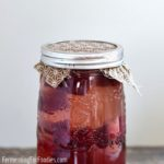 Salty beet kvass is a borscht flavoured beverage made from naturally fermented beets