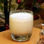 Probiotic kefir cultured healthy eggnog is naturally sweetened with dates