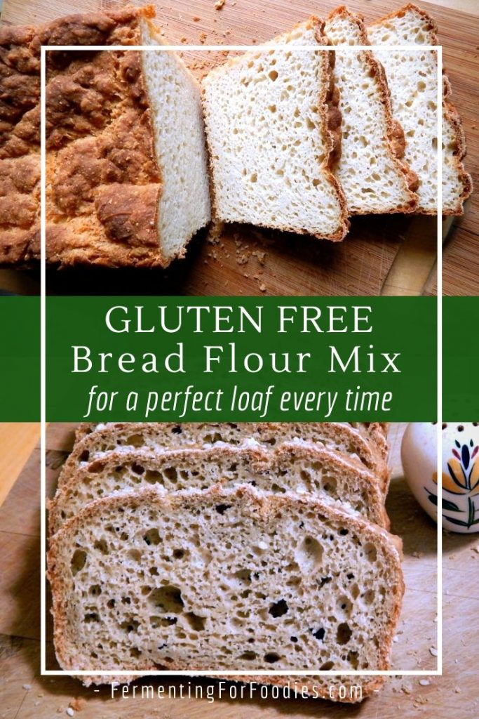 Mix your own gluten free bread flour using your favourite flours - rice, oat, buckwheat, teff, quiona or sorghum