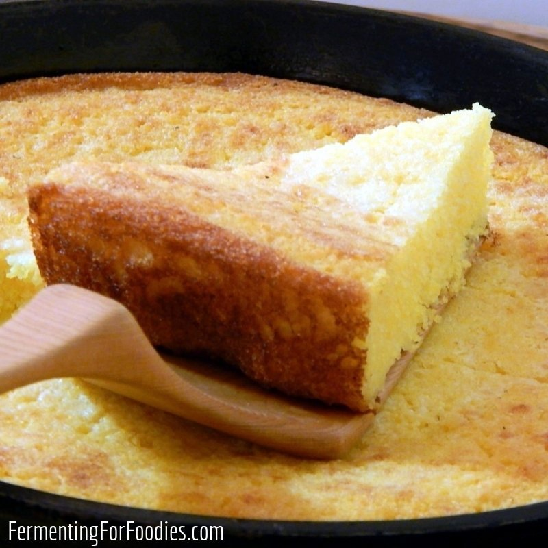 Easy gluten free buttermilk fermented cornbread with your choice of fixings.