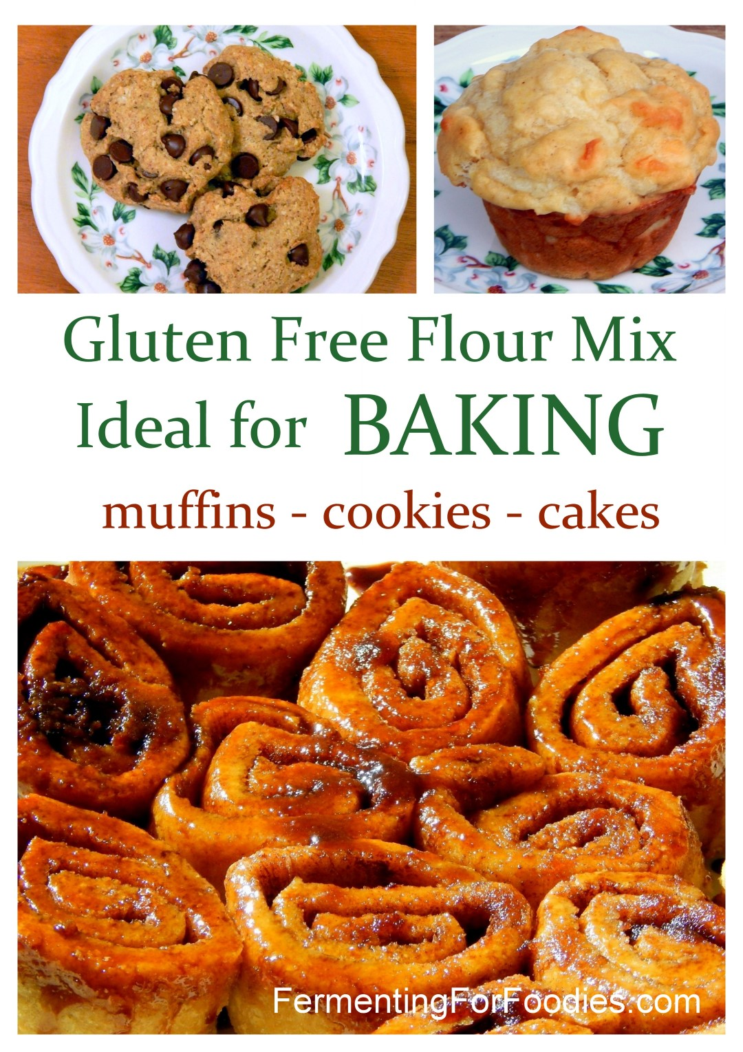 Gluten free flour mix for baking anything! Muffins, cakes and cookies