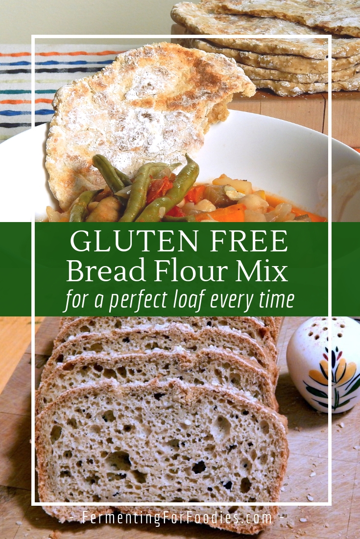 Create your own gluten free bread flour mix - rice, oat, buckwheat and more