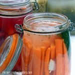 Probiotic and fermented carrot sticks with five different flavour options