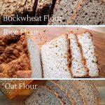 How to make your own gluten free bread flour with whole grain flours, starches, bean flour and white flours
