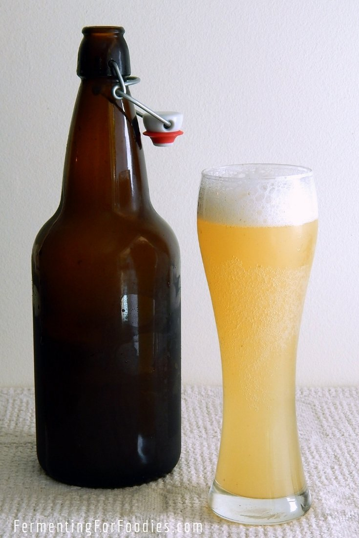 Traditional sourdough bread kvass. Easy and delicious sparkling beverage