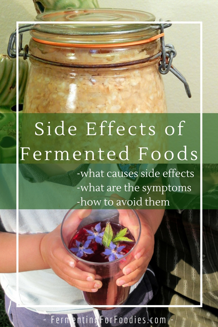 Fermented foods can cause gas, bloating, nausea. Learn about the side effects of fermented foods.