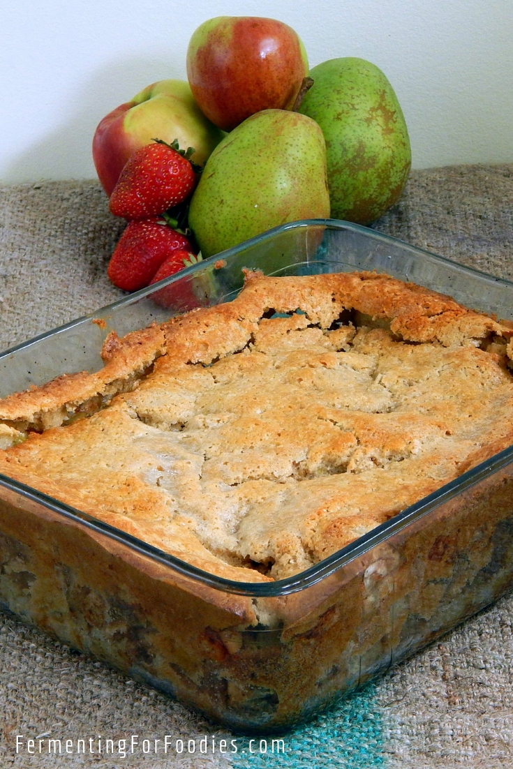 Prefermented cobbler - gluten free, sugar-free, simple and delicious