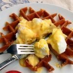 Gluten free sourdough waffles can be savoury or sweet