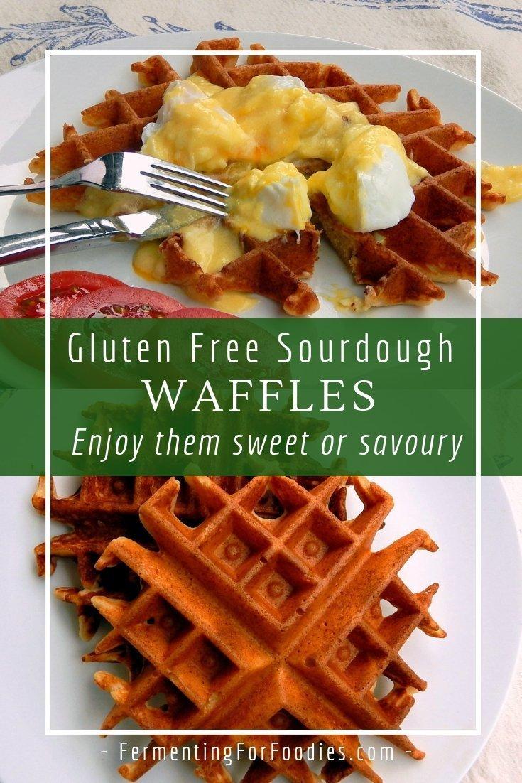 Delicious gluten free sourdough waffles for breakfast, dinner or dessert