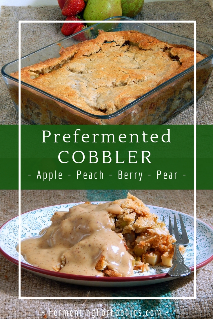 Prefermented Cobbler - Choose your own flavour - apple, cherry, plum, peach, pear, blueberry