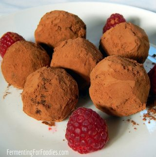 Handmade probiotic chocolate truffles - easy, delicious and fermented