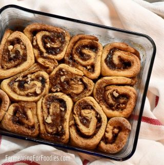 Easy and delicious gluten-free sourdough cinnamon buns