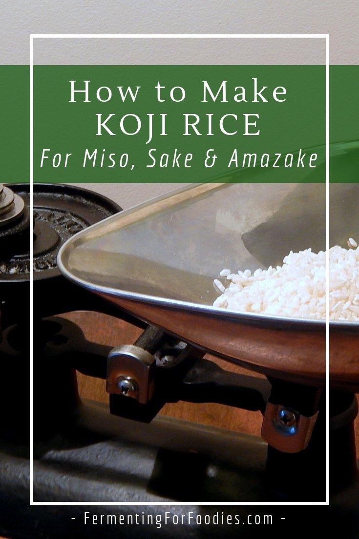 Homemade koji for sake, miso and amazake