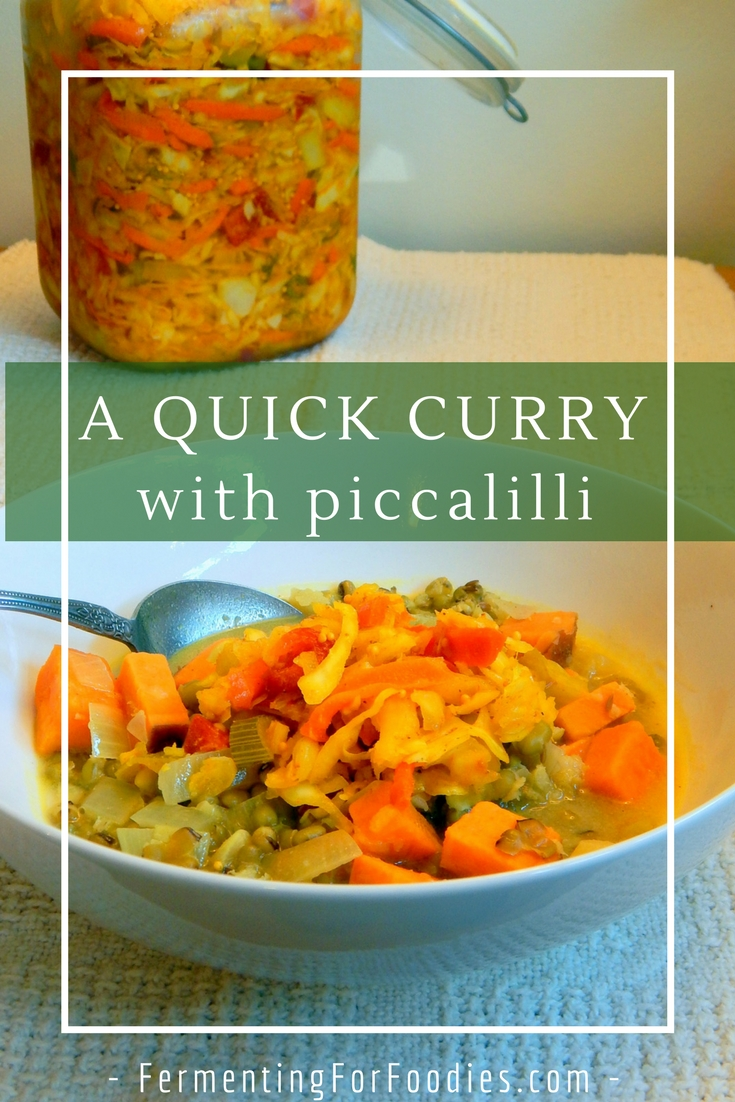 A probiotic curry with fermented vegetable pickles