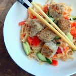 Asian tempeh salad - gluten free, vegan and delicious