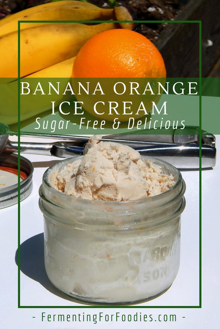 Orange creamsicle Ice Cream - sugar-free and probiotic