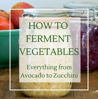 How to ferment vegetables with apple cider vinegar