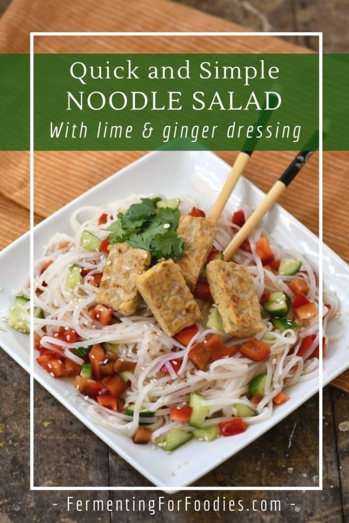 How to make a noodle salad using up whatever you have in your fridge