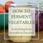 How to ferment all different types of vegetables. Everything from Avocado to Zucchini