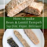 How to make soy-free tempeh with beans, chickpeas or lentils. Try black bean tempeh or navy bean tempeh!