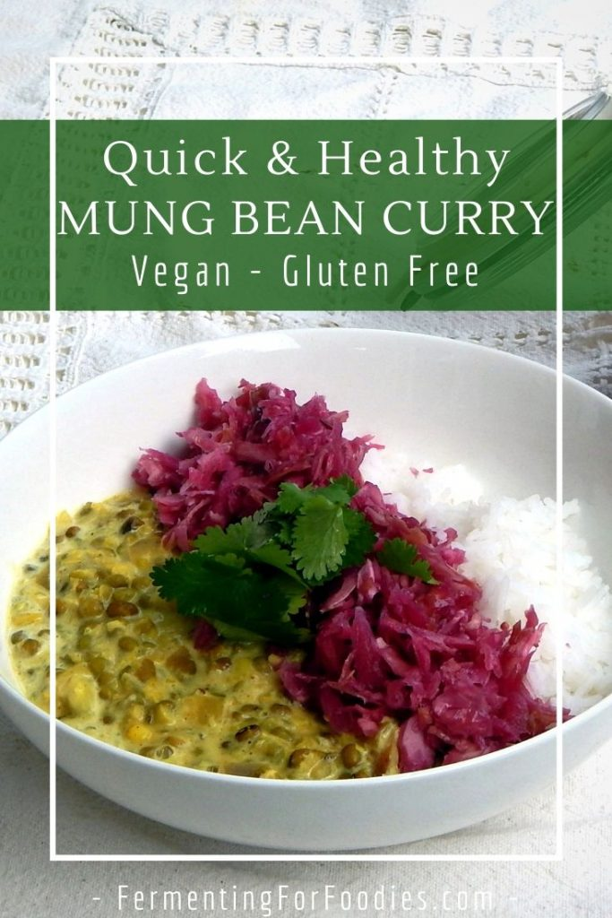 How to make a simple mung bean curry with whatever vegetables you have