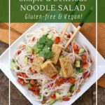 Tempeh noodle salad is a health 30 minute meal.