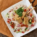How to make a tempeh noodle salad with lime, ginger and sesame dressing
