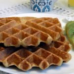 Vegan sourdough waffles with gluten free and sugar free options