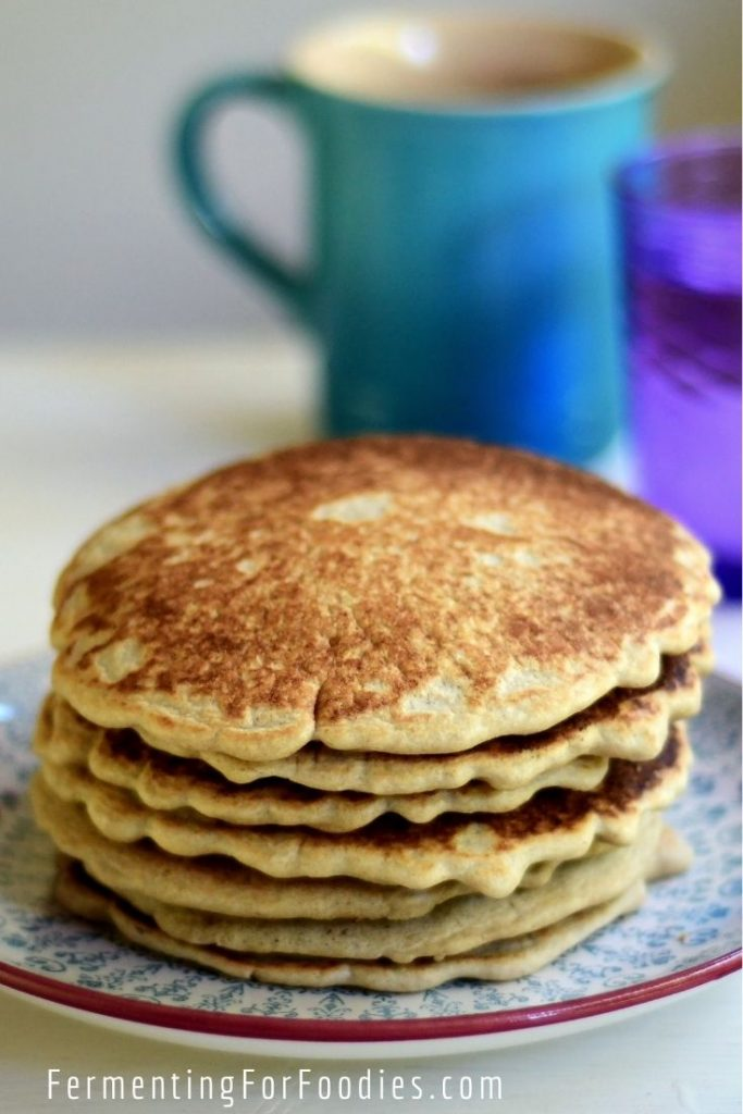 Gluten-free sourdough pancakes with 3 savoury additions, perfect for eggs!