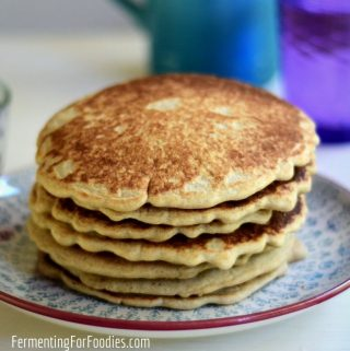 How to use up extra sourdough starter with this gluten-free sourdough pancake recipe