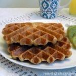 Apple cinnamon vegan sourdough waffles