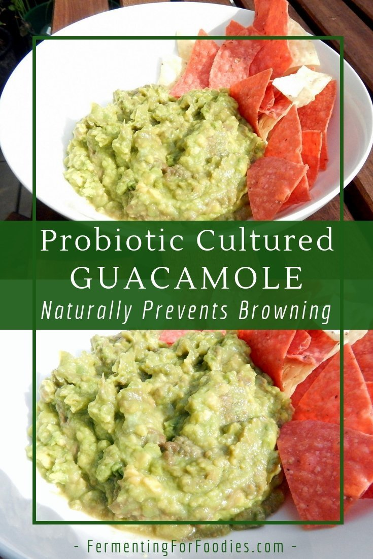 Simple fermented guacamole is a delicious and probiotic dip