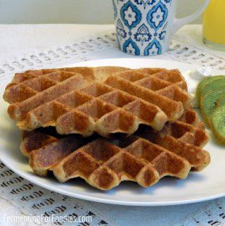 Vegan apple sauce waffles - easy and sugar free