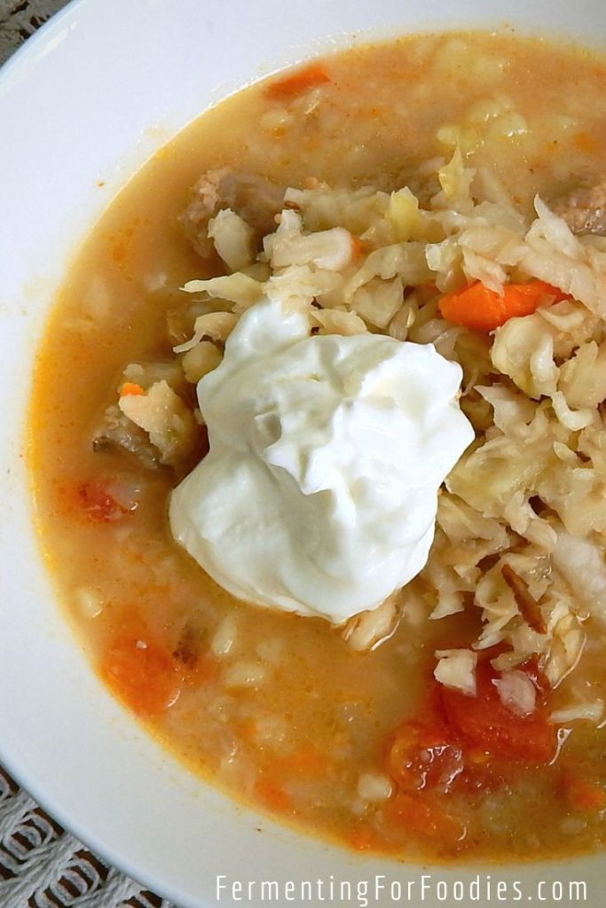 Rich and delicious, sauerkraut soup is a favourite of kids and adults