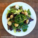 Probiotic Nicoise Salad - with fermented beans, garlic scapes, nasturtiums