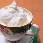 Kefir cultured probiotic whipping cream for healthy treats