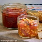 Fermented corn salsa, fermented green tomato salsa, fermented fruit salsa and other delicious flavours