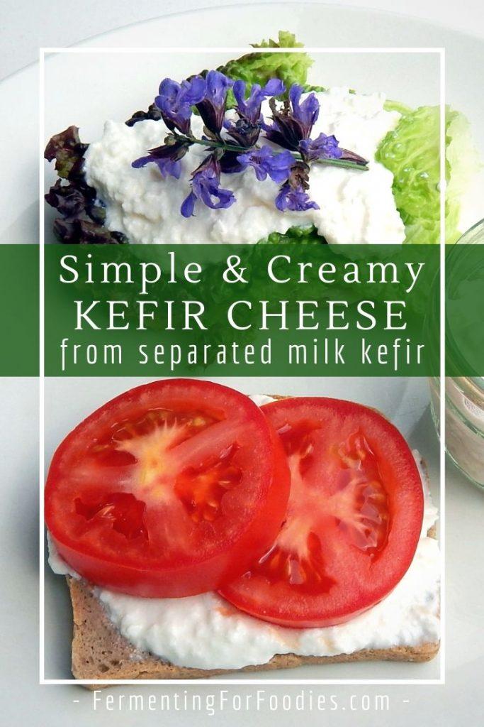 Simple milk kefir cheese from separated milk kefir - gluten-free, keto, probiotic, delicious